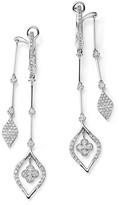 KC Designs Diamond Front-Back Drop Earrings in 14K White Gold, .65 ct. t.w.