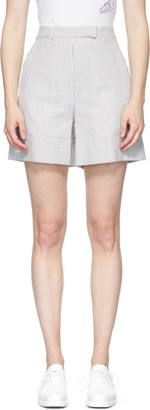 Thom Browne Grey Seersucker High Waisted Shorts