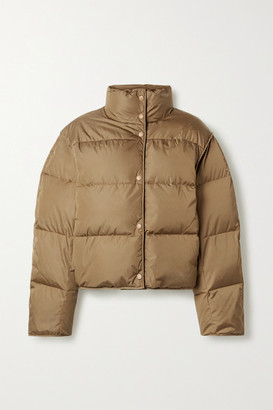 Acne Studios Net Sustain Cropped Quilted Shell Down Jacket - Light brown