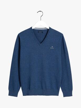 Gant Classic Cotton V-Neck Jumper