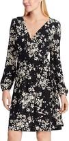 Chaps Women's Floral Faux-Wrap Dress