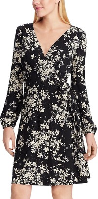 Chaps Women's Floral Faux-Wrap Dress