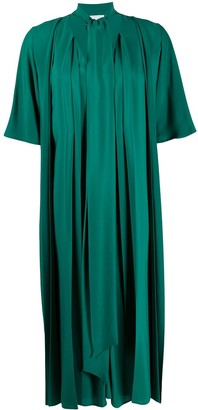 Erika Cavallini Pleated Midi Shift Dress