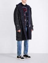 Sacai Herringbone wool-blend coat