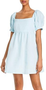 Alice + Olivia Bauery Puffed Sleeve Babydoll Dress