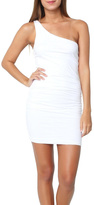 Sundry One-Shoulder Dress White