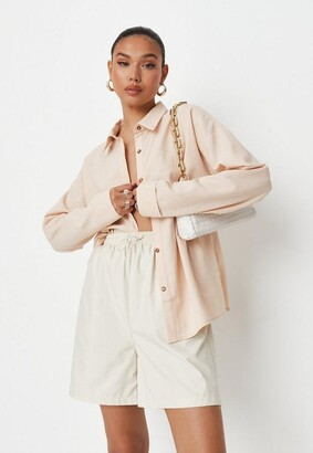 Missguided Extreme Oversized Linen Look Shirt
