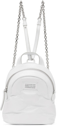 Maison Margiela White Mini Glam Slam Backpack