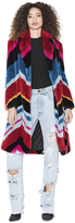 Alice + Olivia Roth Faux Fur Collared Coat