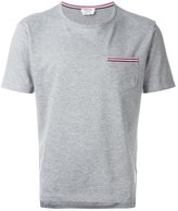 Thom Browne Short Sleeve T-Shirt With Chest Pocket In Grey Jersey