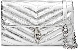 Rebecca Minkoff Edie Metallic Leather Wallet