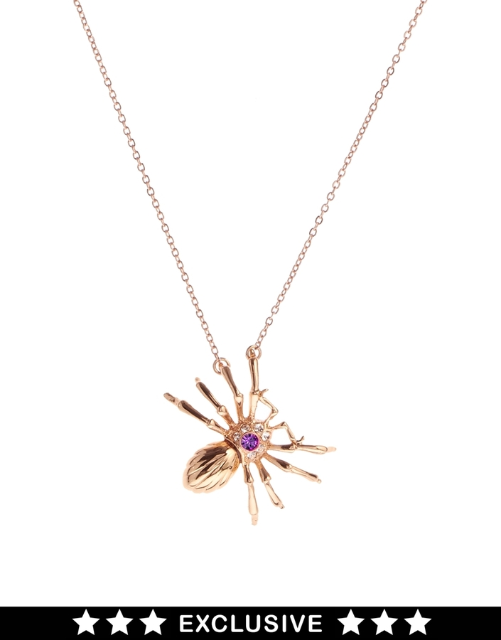 Asos Bill Skinner Exclusive For Spider Pendant
