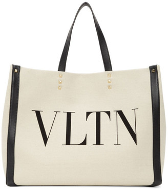 Valentino Beige Small Canvas Tote