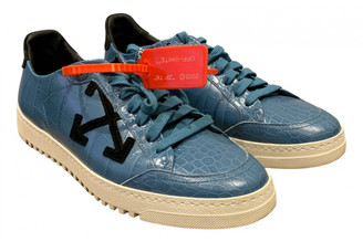 Off-White Low Top Blue Leather Trainers