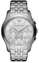 Emporio Armani Round Stainless Steel Chronograph Watch