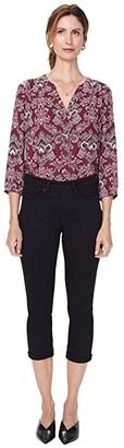 NYDJ Petite Petite Chloe Capri Jeans in Black (Black) Women's Jeans