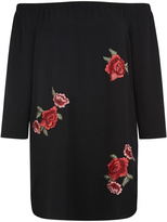 Dex Off-Shoulder Embroidered Dress