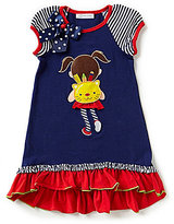 Bonnie Jean Little Girls 2T-6X Mixed-Media Dress