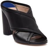 Stuart Weitzman Sam Leather Block Heel Mule