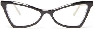 Marni Spy Cat Eye Acetate Glasses - Womens - Black
