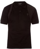 Alexander Mcqueen Harness Cotton-piqué Polo Shirt