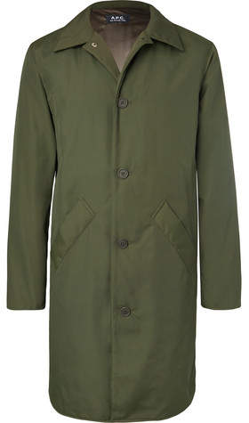 A.P.C. Alex Water-Resistant Canvas Raincoat