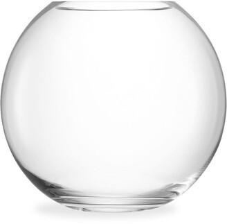 LSA International Globe large glass vase