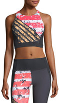 Under Armour Mirror Shine Crop Performance Sports Bra