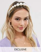 My Accessories London Exclusive headband with graduated pearls