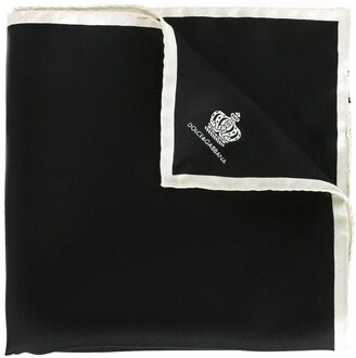Dolce & Gabbana Crown Print Pocket Square