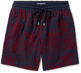 Vilebrequin Moorea Long-Length Flocked Swim Shorts