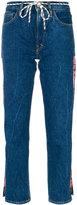 Aries logo strip cropped jeans