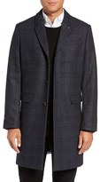 Ted Baker Men's Capri Trim Fit Plaid Overcoat