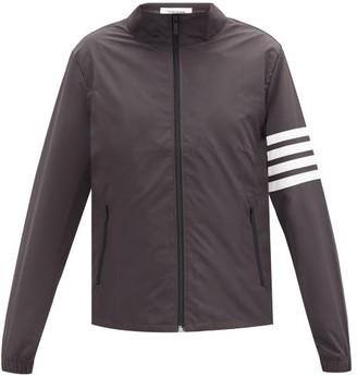 Thom Browne High-neck Four-bar Shell Windbreaker Jacket - Black