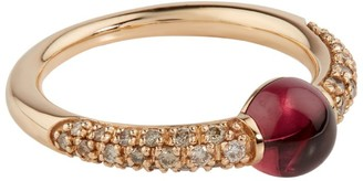 Pomellato Rose Gold, Garnet and Diamond M'ama Non M'ama Ring