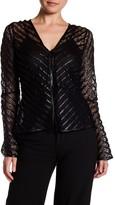 Yoana Baraschi Girl Power Faux Leather Trim Lace Jacket