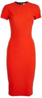 Victoria Beckham Short-Sleeved Midi Dress
