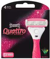 Wilkinson Sword Quattro For Women Blades 6pk