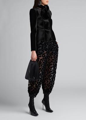 Giorgio Armani Flocked Leopard Silk Harem Pants