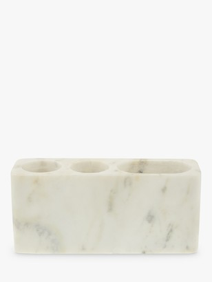 John Lewis & Partners Marble Toothbrush Holder, White