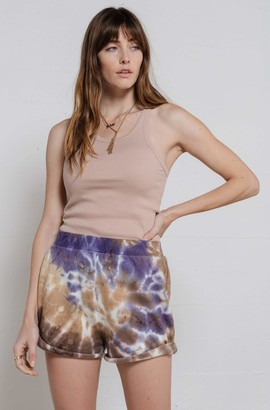 Ragdoll LA SWEAT SHORTS Brown Tie Dye