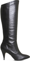 Office Kiss knee-high leather boots
