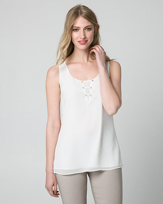 Le Château Chiffon Scoop Neck Tank Top
