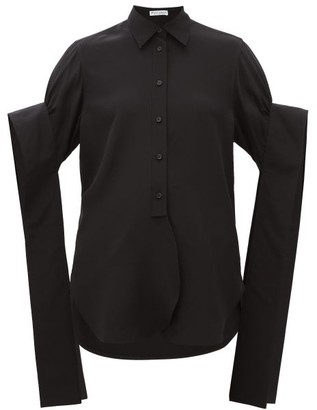 J.W.Anderson Crystal-embellished Cotton Poplin Shirt - Womens - Black