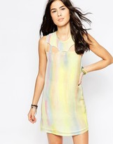 RVCA Sleeveless Metallic Shift Dress