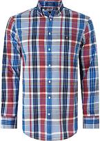 Gant Madras Plaid Regular Fit Shirt, Bright Pink