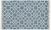 Pottery Barn Diamond Maze Synthetic Indoor/Outdoor Rug - Blue