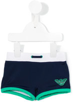 Armani Junior logo print swim shorts - kids - Polyamide/Spandex/Elastane - 12 mth
