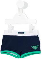 Armani Junior logo print swim shorts - kids - Polyamide/Spandex/Elastane - 6 mth