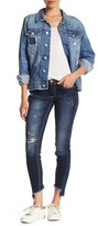 C&C California Haiden Low Rise Uneven Frayed Hem Ankle Skinny Jean